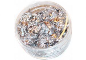 Decorazione foglia effetto argento Immaginails